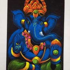 Wandbilder mit Ganesha Motiv 1 groß, in verschiedenen Farbvarianten